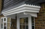 The Ripley Scalloped Lead Effect Flat Over Door Canopy includes 2x BRG8 Brackets