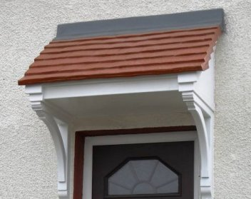The Berkley Single-Pitch Tiled Over Door Canopy includes 2x Brackets